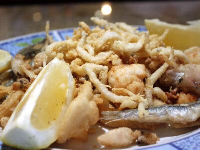Fritura de pescado en Mesón Botafumeiro