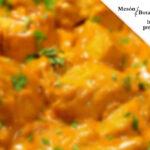 Pollo en adobo con salsa de curry en Mesón Botafumeiro