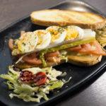 Sándwich rústico vegetal
