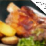 Codillo de cerdo al horno en Mesón Botafumeiro